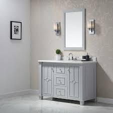 Ove Decors Bathroom Vanities Shop Ove Decors Positano Dove Gray Undermount Single Sink Bathroom