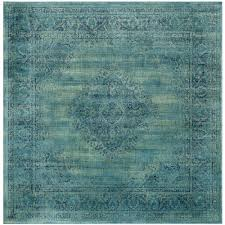 Teal Living Room Rug by Safavieh Vintage Turquoise Multi 8 Ft X 8 Ft Square Area Rug