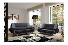 canapé simili cuir noir canapé design 3 2 bregga noir blanc noir gris blanc chocolat