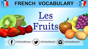 learn french words food vocabulary fruits youtube