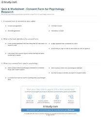 social science consent form template informed sample psychology