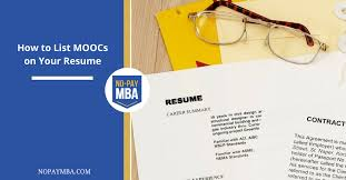 How To Write Continuing Education On Resume How To List Moocs On Your Resume