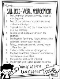 24 best subject verb agreement images on pinterest subject verb