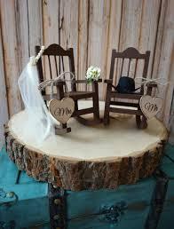 Mr Barn Country Wedding Rocking Chair Barn Rustic Cake Topper Bride Groom