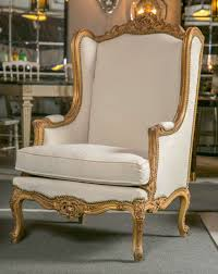pair of french louis xv style wingback bergere chairs at 1stdibs