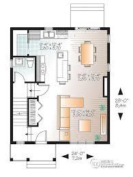 plan de la cuisine dé du plan de maison unifamiliale w3719