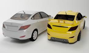 hyundai accent model 3d model hyundai accent cgtrader
