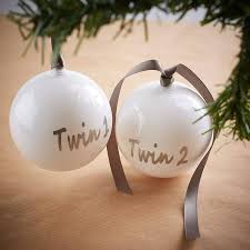 Twins First Christmas Ornament Twin Personalised Christmas Baubles By Pink Biscuits