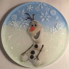frozen ornaments featuring elsa and olaf