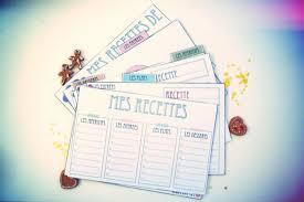 cahier de cuisine vierge des cartes de recette de cuisine vie de miettes