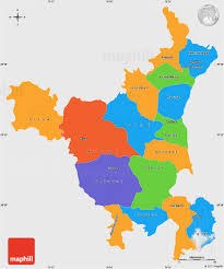 Political Map Of South Asia by Political Simple Map Of Haryana Single Color Outside