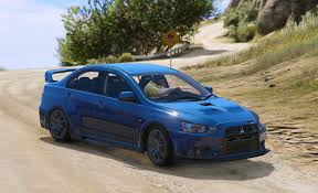 blue mitsubishi lancer mitsubishi lancer evolution x fq 400 gta5 mods com