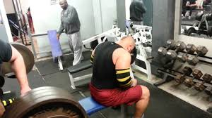 212kg feet up close grip bench youtube