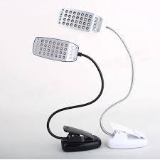 28 led flexible usb clip on reading desk lamp table light us