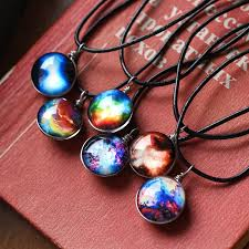 glass star pendant necklace images Collares duplex planet crystal stars ball glass galaxy pattern jpg
