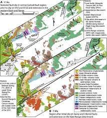 Dove Migration Map Evolution Of The Central Garlock Fault Zone California A Major