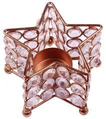 star shaped tea lights shaped tea light candle holder copper finish metal frame faux
