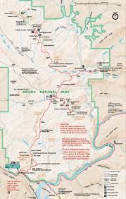 Map Of Moab Utah by Arches National Park Map Moab