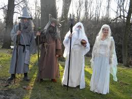 white council costumes for hobbit premere gandalf radagast