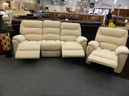Lay Z Boy Sofa La Z Boy Manhattan Cream Fabric 3 U0026 Chair Electric Recliners