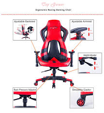 amazon com top gamer ergonomic gaming chair high back computer