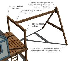 ana white build a how to build a swing set for the playhouse