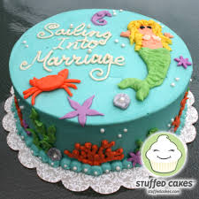 stuffed cakes mermaid bridal shower cake