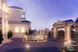 awesome villa u0027s exterior design in qatar antonovich design