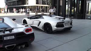 koenigsegg agera r 2017 white start up battle koenigsegg agera r vs lamborghini aventador