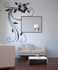 nature wall decals nature stickers for walls stickerbrand vinyl wall decal sticker swirly hibiscus os aa377