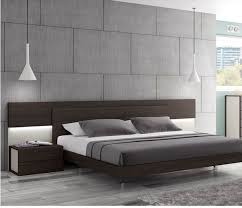 Wenge Bedroom Furniture J M Furniture Maia Platform Bed In Light Grey Wenge Beyond Stores