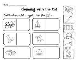 rhyming cut and paste teaching ideas pinterest cut and paste