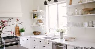 open kitchen cabinets open shelving better than cabinets pros vs cons