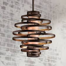 vertigo spiral bronze and gold leaf modern pendant chandelier lighting modern living room corbett vertigo 18 wide small pendant light j6250 ls plus