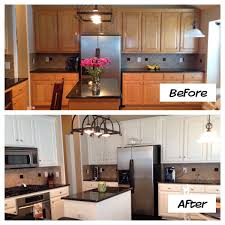 Painted Wooden Kitchen Cabinets Painted Oak Kitchen Cabinets Sw Alabaster White Kitchens