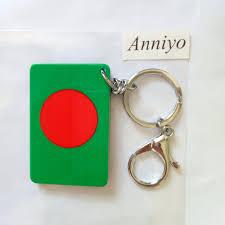 Flag Of Bengal Anniyo Bangladesh National Flag Key Chains Jewelry Bengali
