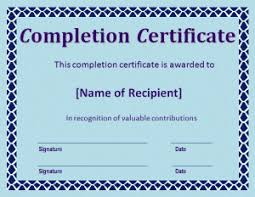 certificate of completion construction free word templates