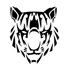 11cm 12 8cm tribal tiger personality vinyl car sticker
