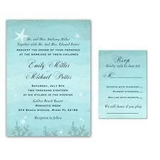 beachy wedding invitations wedding invitations ebay