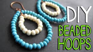 earrings diy diy beaded wire hoop earrings tutorial jewelry tutorial