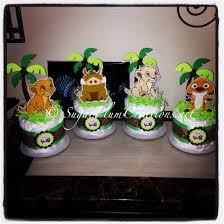 set of 4 lion king diaper cake minis simba nala timon and