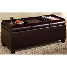 bedroom wonderful ottoman storage bench chocolate brown bonded