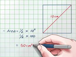 50 Square Meters To Feet How To Find The Area Of A Square Using The Length Of Its Diagonal