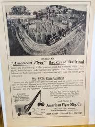 american flyer backyard railroad circa 1924 railroad contest