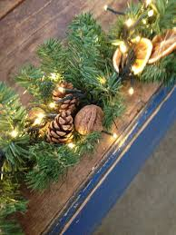 christmas garland with nautral decotraions perfect for your