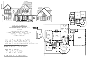 2 story house plans 4 bedroom farmhouse blueprints two storey home