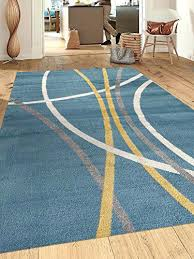 Modern Nature Rugs Modern Style Area Rugs Abstract Contemporary Modern Stripes Blue X