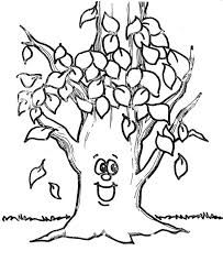 pine tree coloring pages fall leaf happy tree fall leaf coloring page halloween fall