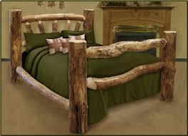 Wood Log Bed Frame King Size Custom Aspen Log Bed Aspen Size And Bed Frames