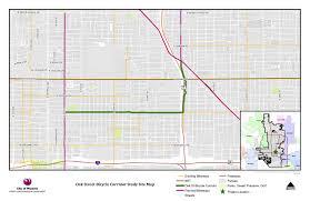 Map Phoenix Area by Street Transportation Oak Street Improvement Project